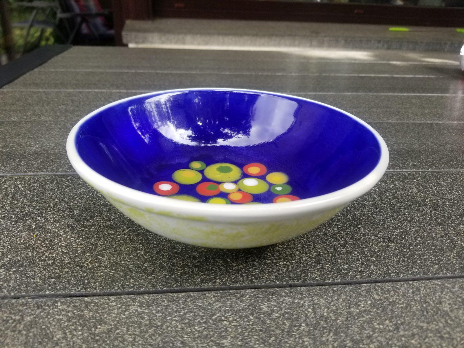 Keramik Schale Oslo blue dots