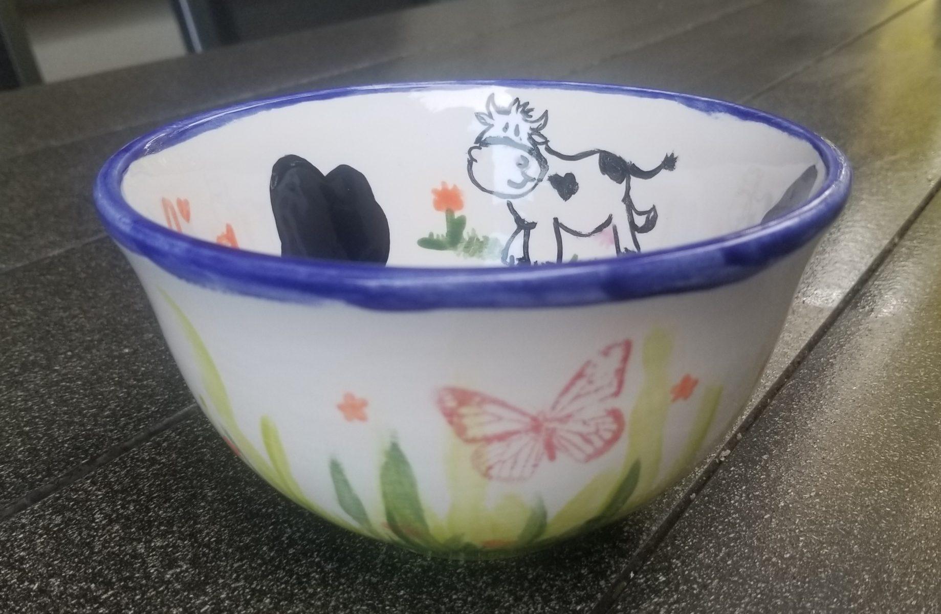 Keramik Schale Vintage Kuh