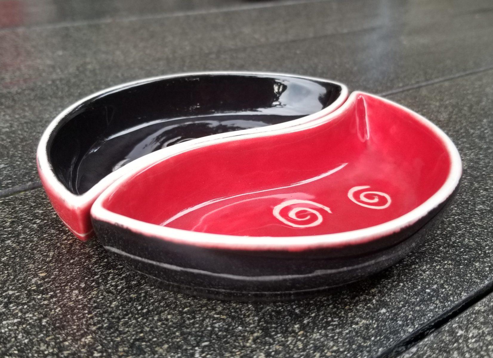 Keramik Segmente rot - schwarz