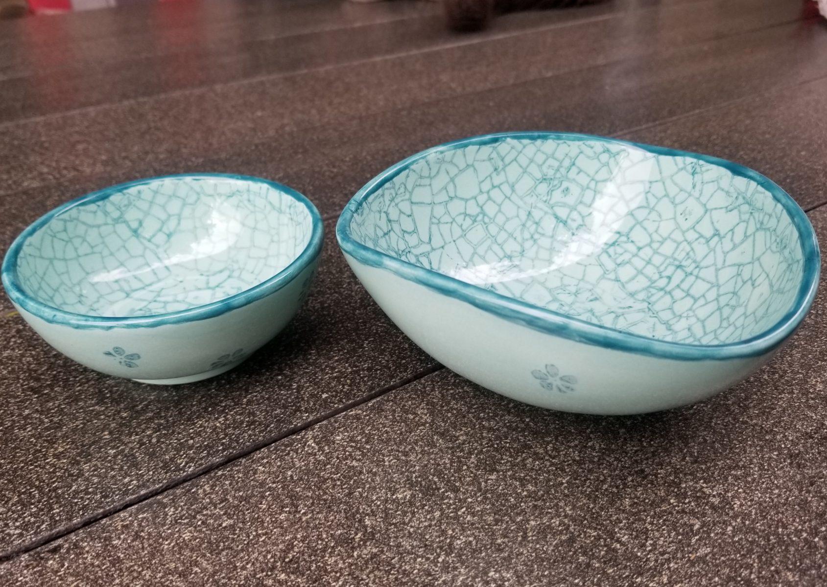 Keramik Schälchen-Set jade