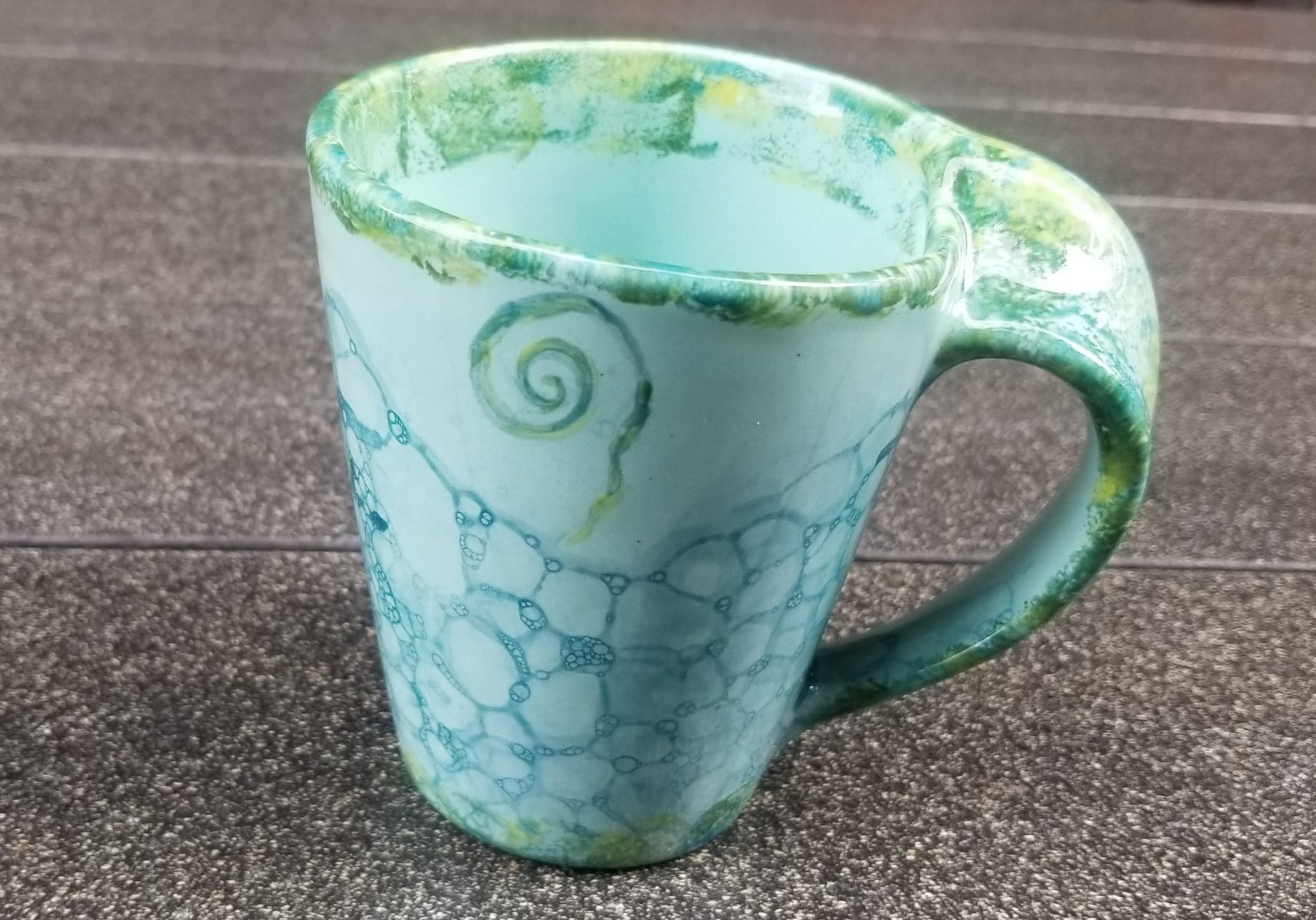 Keramik Loopingbecher Underwater