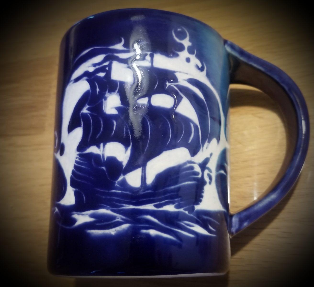 Keramik Becher Olga Piratenschiff
