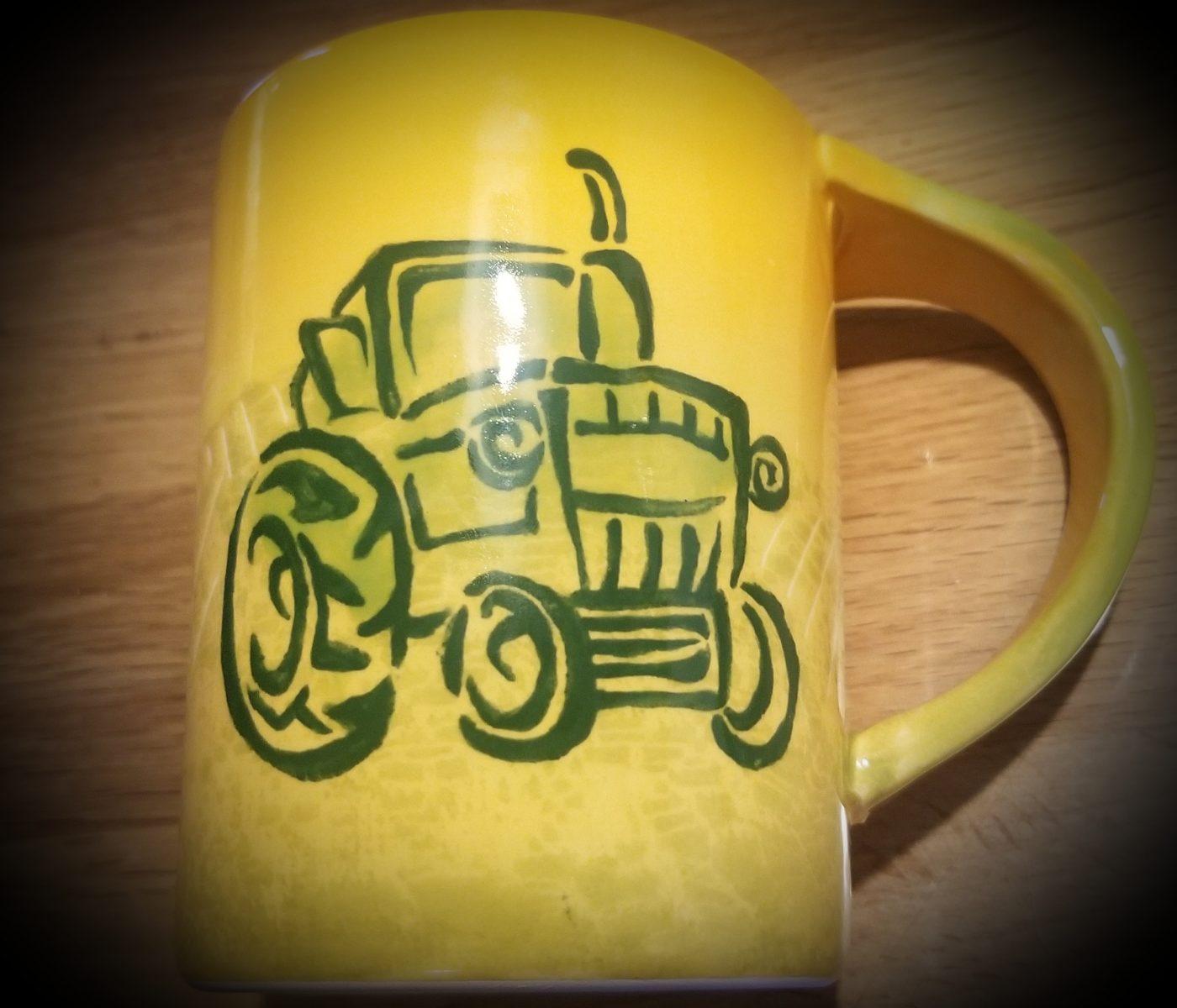 Keramik Becher Olga Traktor
