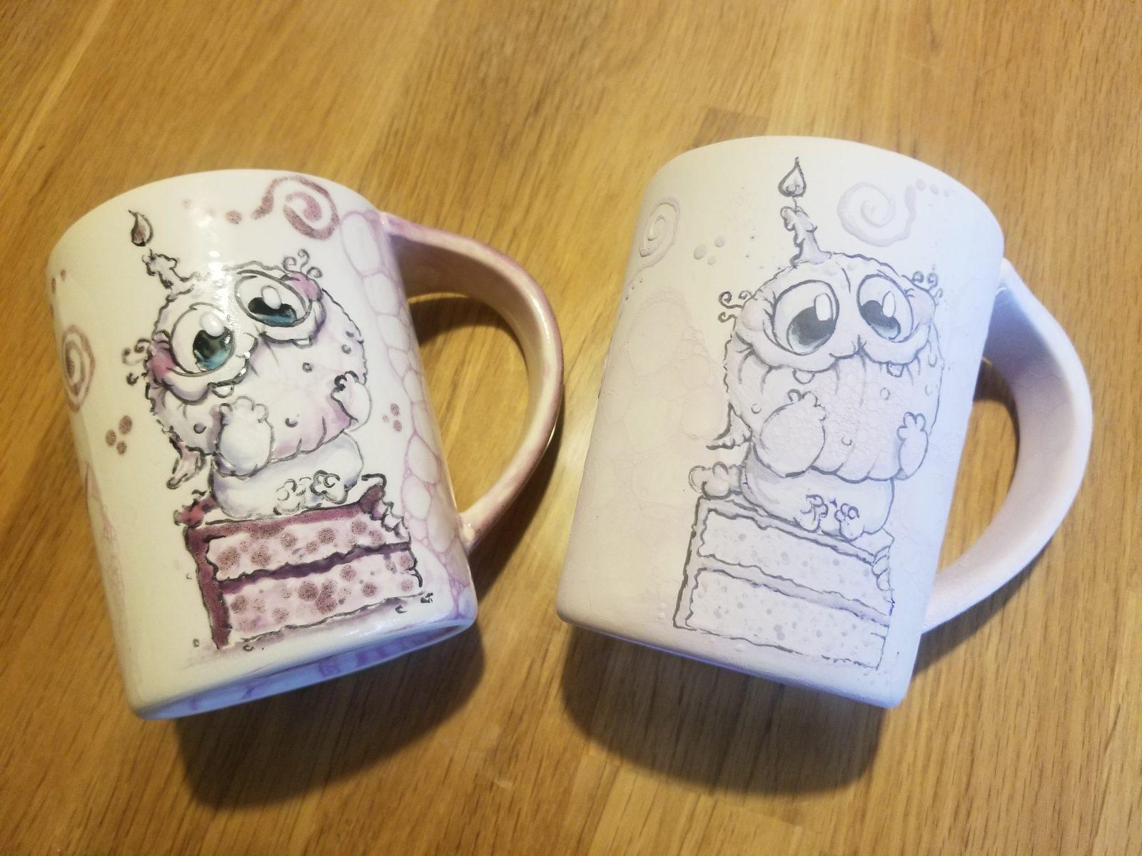 Keramik vor und nach dem Brennen