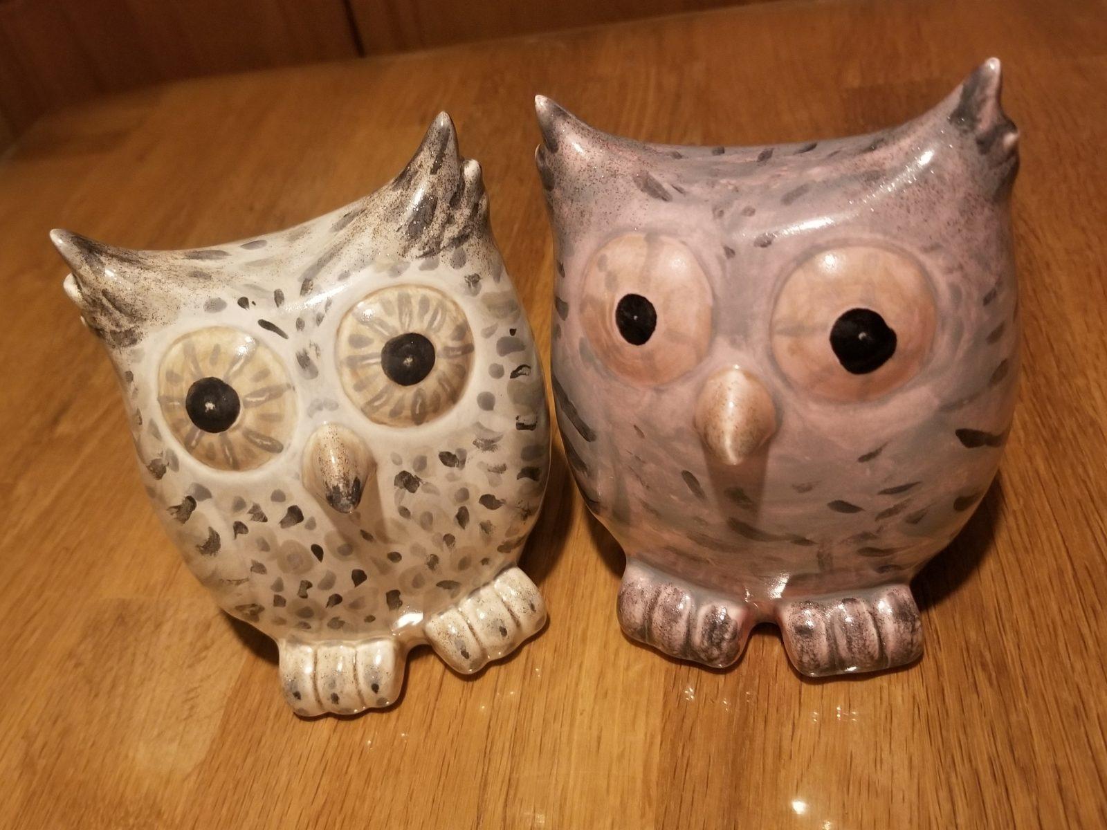 Keramik Spardosen Eulen
