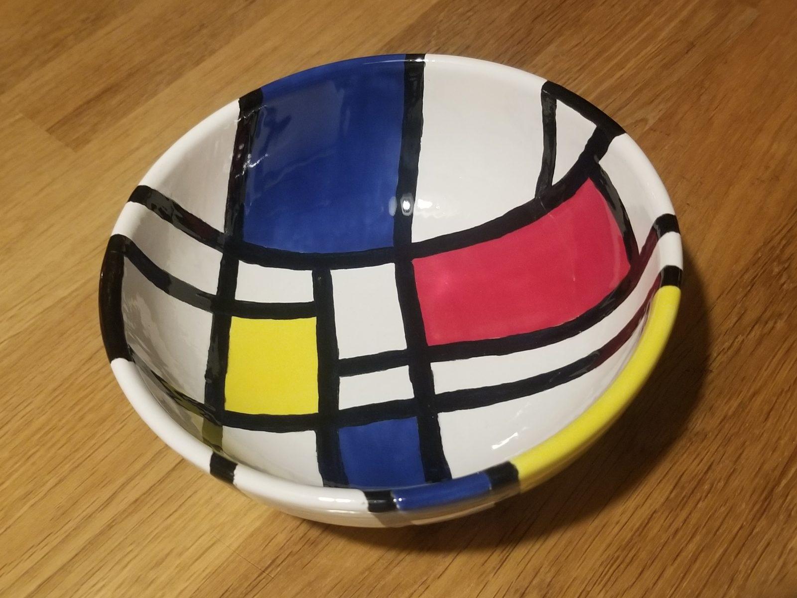 Keramik Müslischale Mondrian