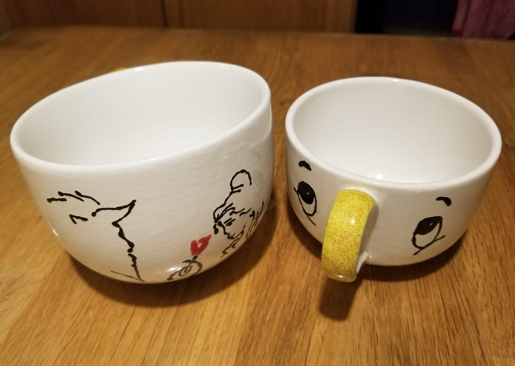 Keramik Keffeetassen Die Schöne und das Biest