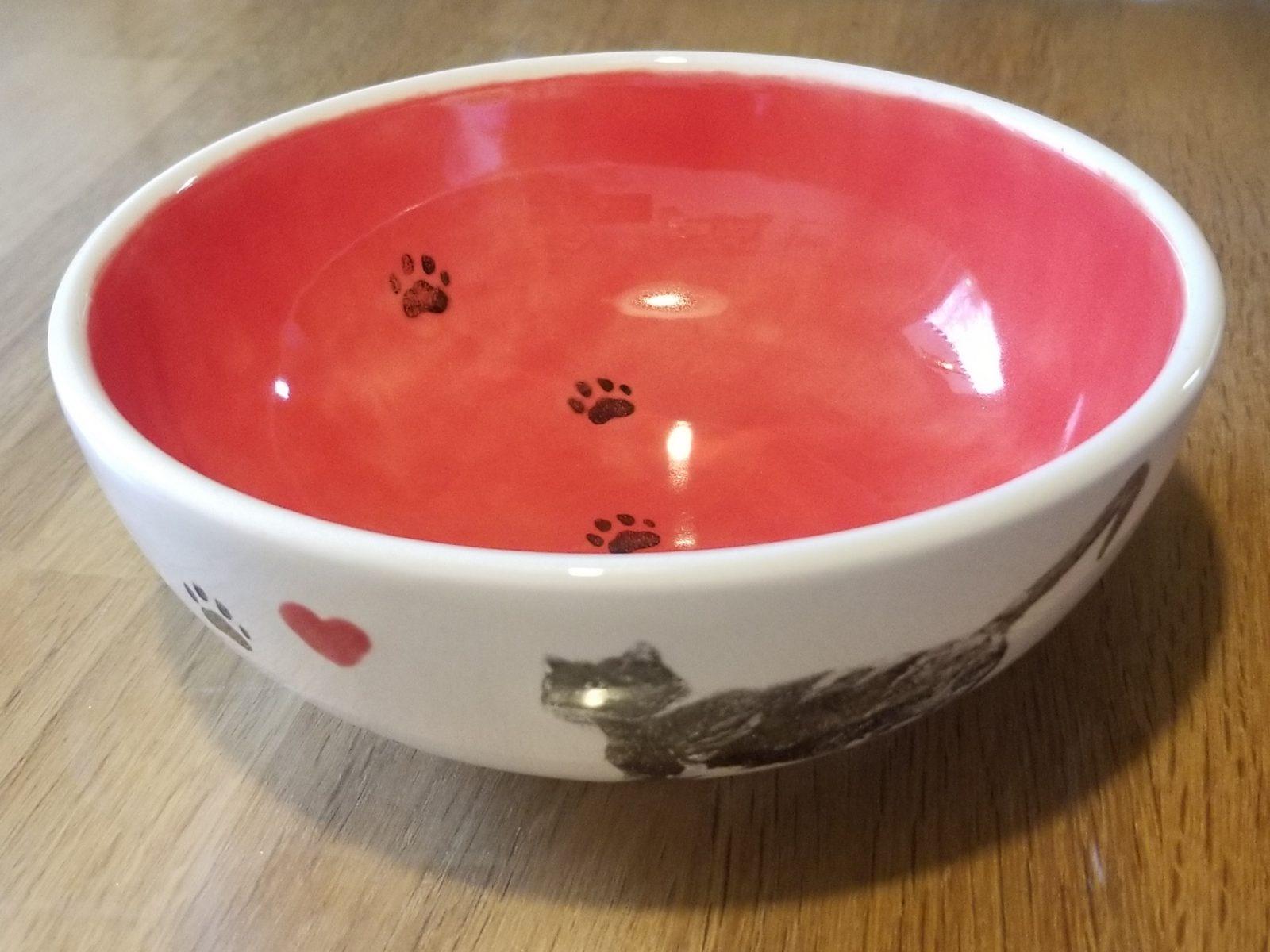 Keramik Müslischale Katzenpfötchen