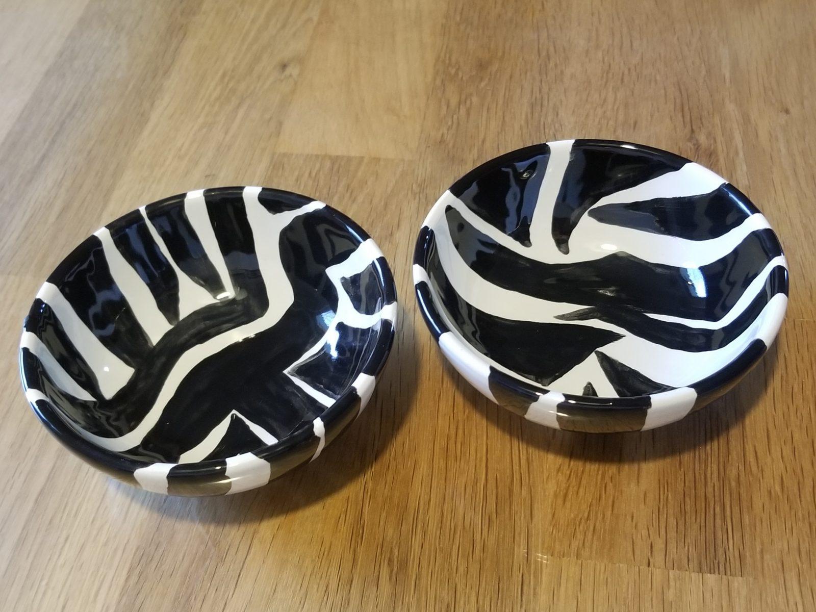 Keramik Schälchen-Set Zebra
