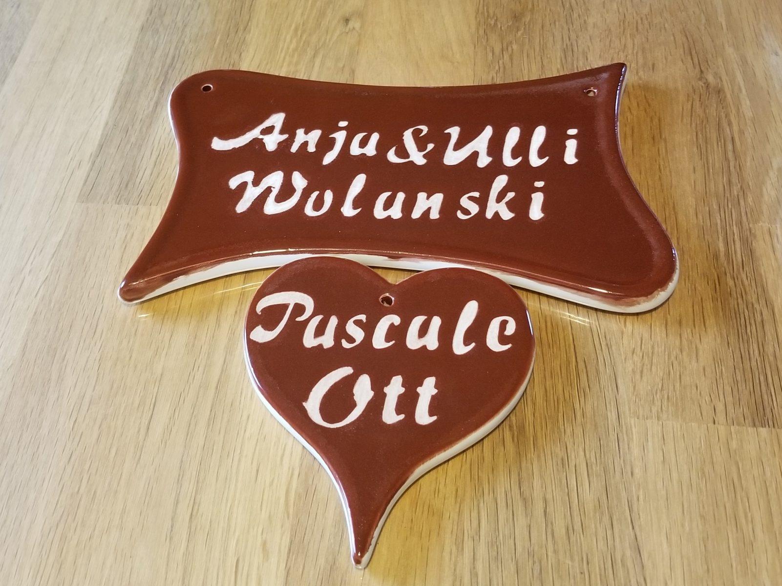 Keramik Türschilder von Ulrich