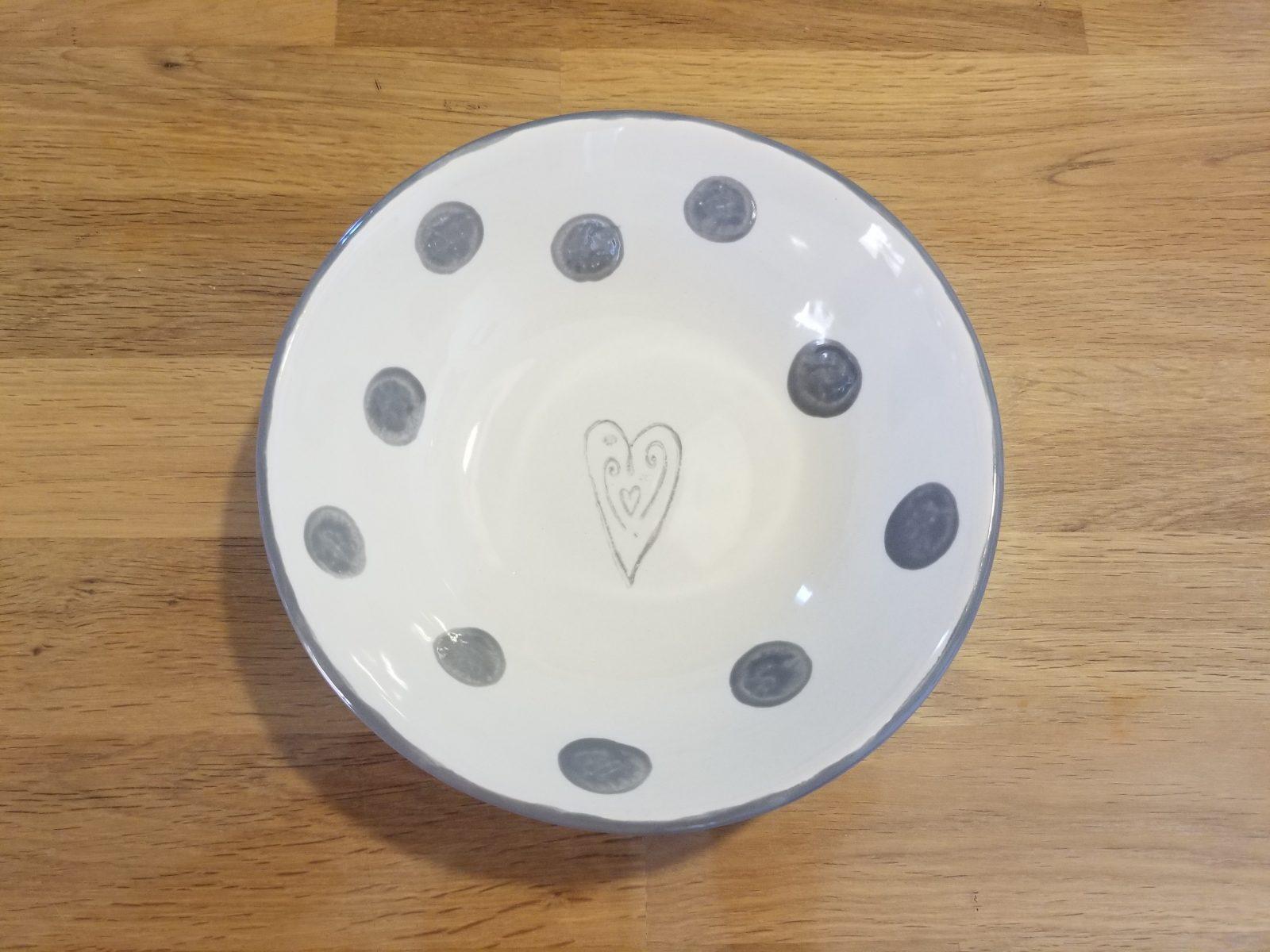 Keramik Schale mit Herz