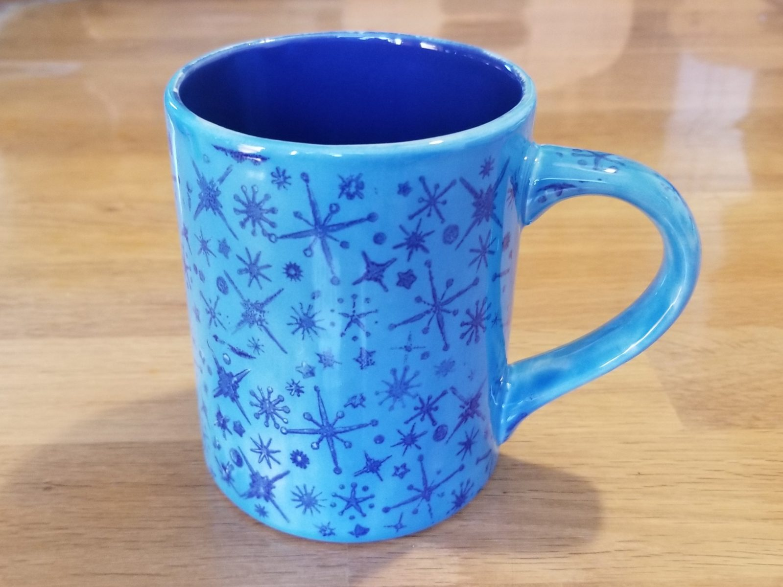 Keramik Kaffeebecher Blue Stars