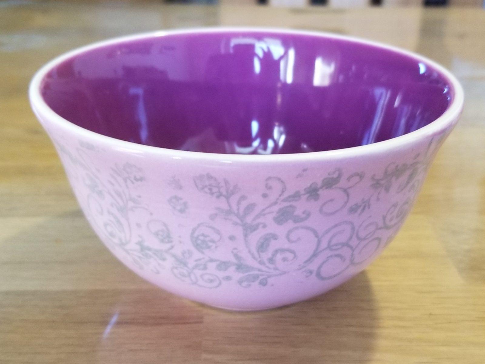 Keramik flieder Vintage-Schale