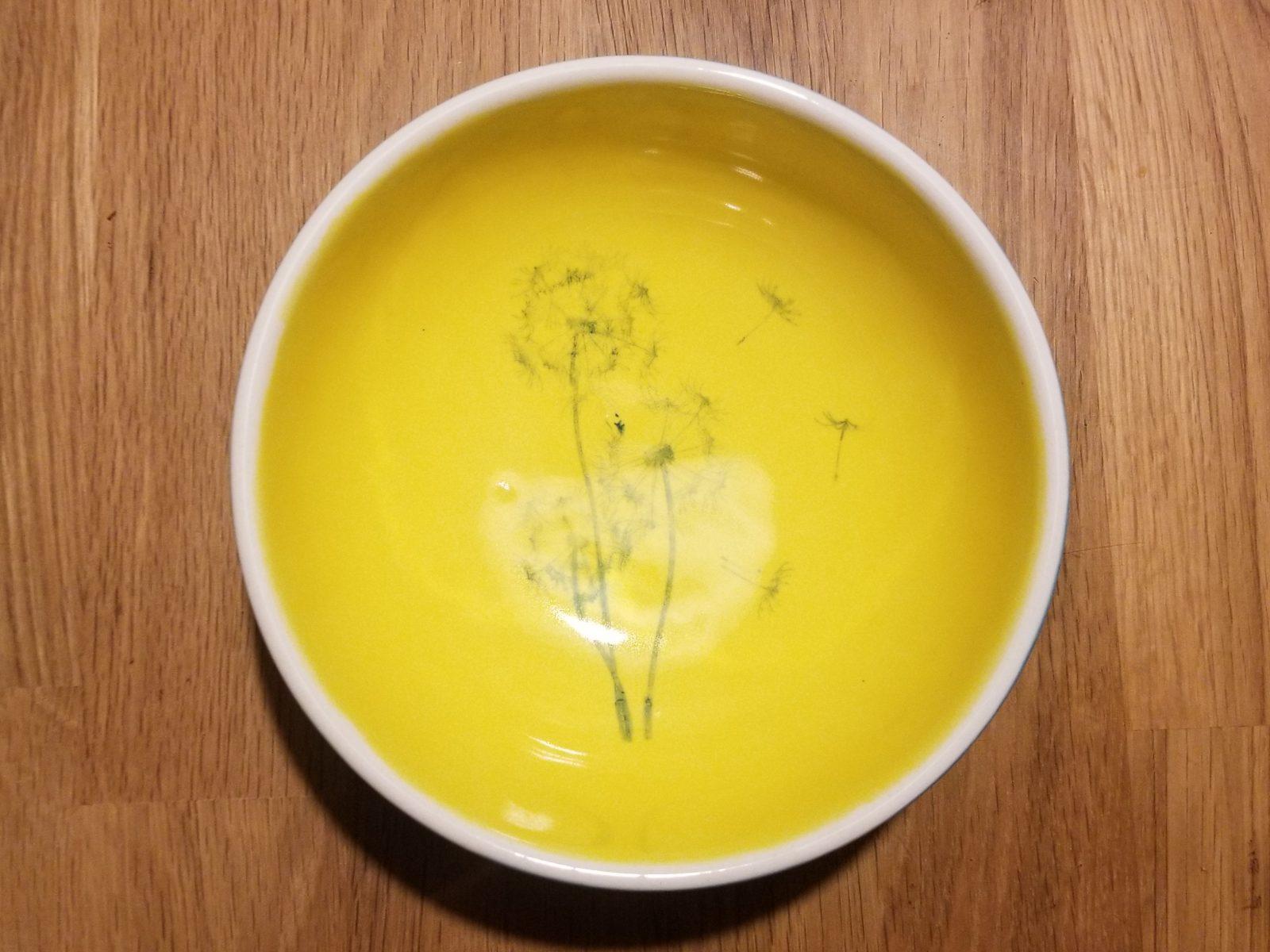 Keramik Schale Pusteblume