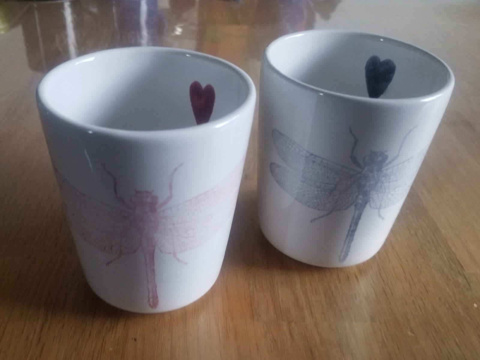 Keramik Milchbecher-Set Libelle