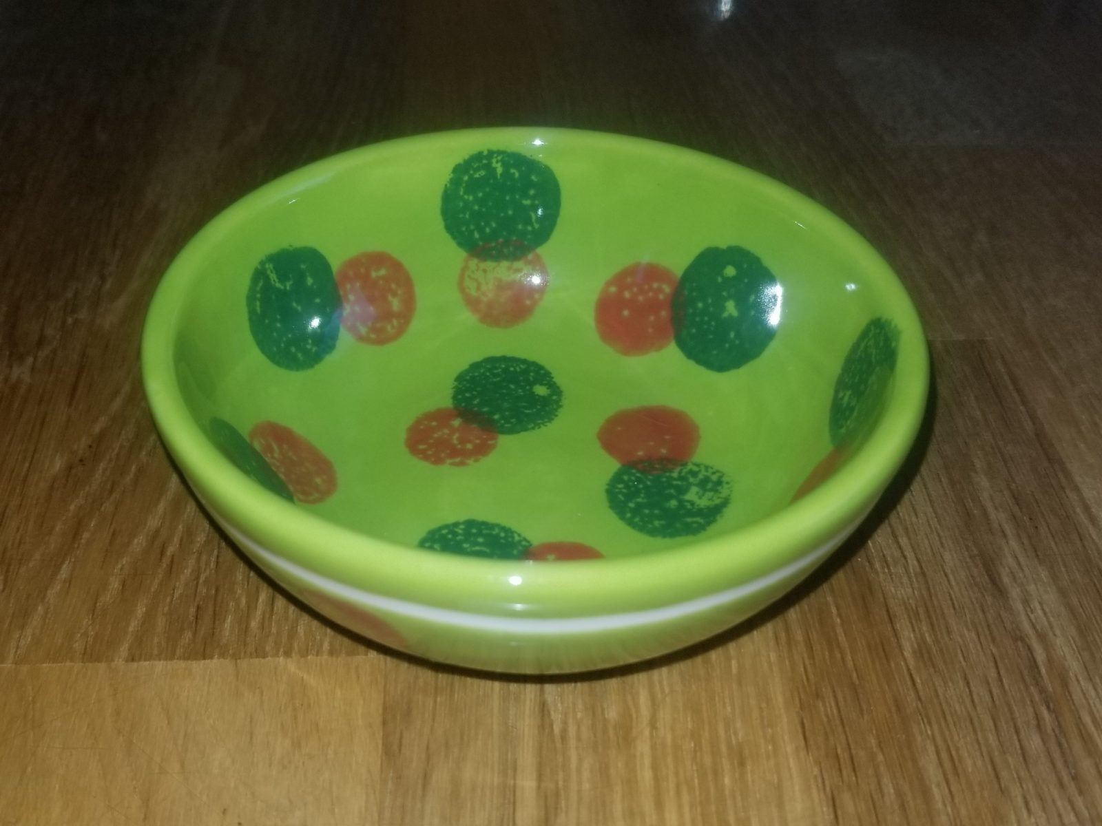 Keramik Müslischale green Dots
