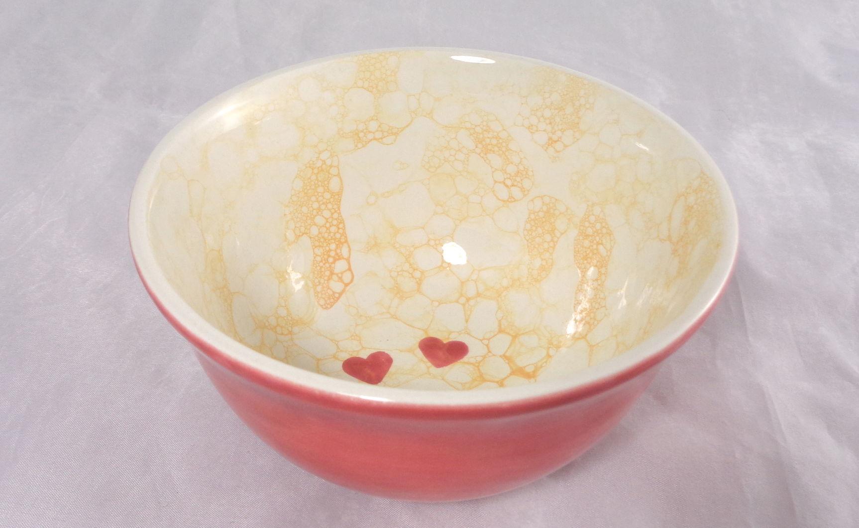 Bemalte Keramik Blubber-Vintage rot-orange