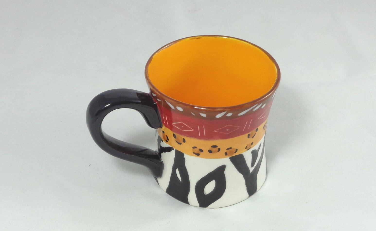 Bemalte Keramik Diner Mug Afrika