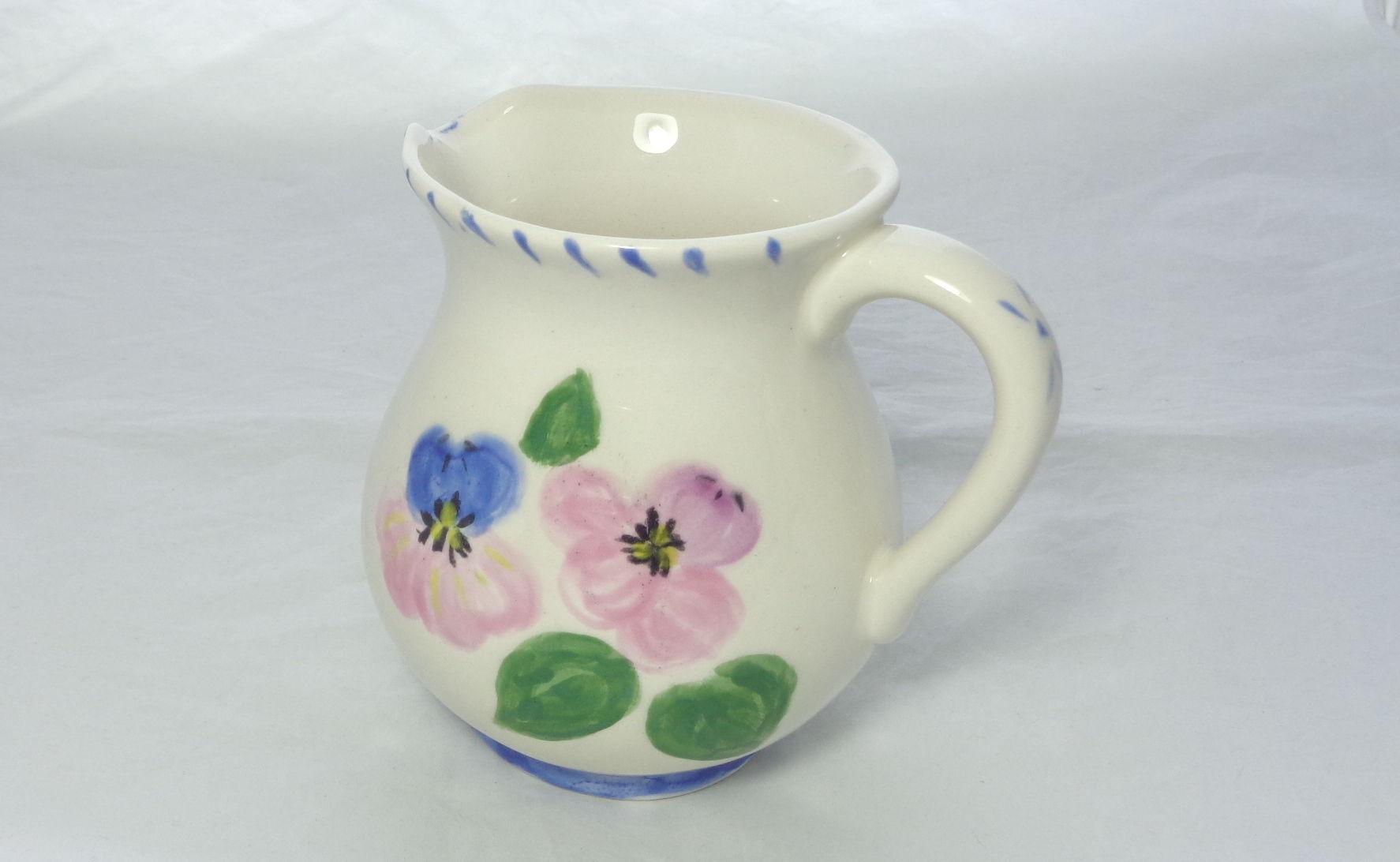 Bemalte Keramik Krug 0.5l Veillchen