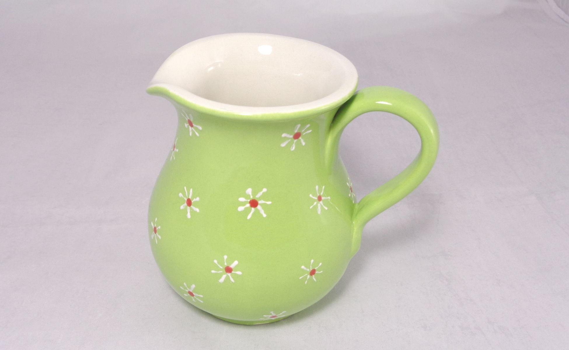 Bemalte Keramik Krug small flowers
