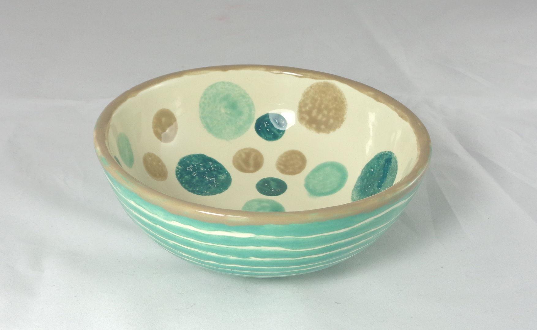 Bemalte Keramik Müslischale Jade