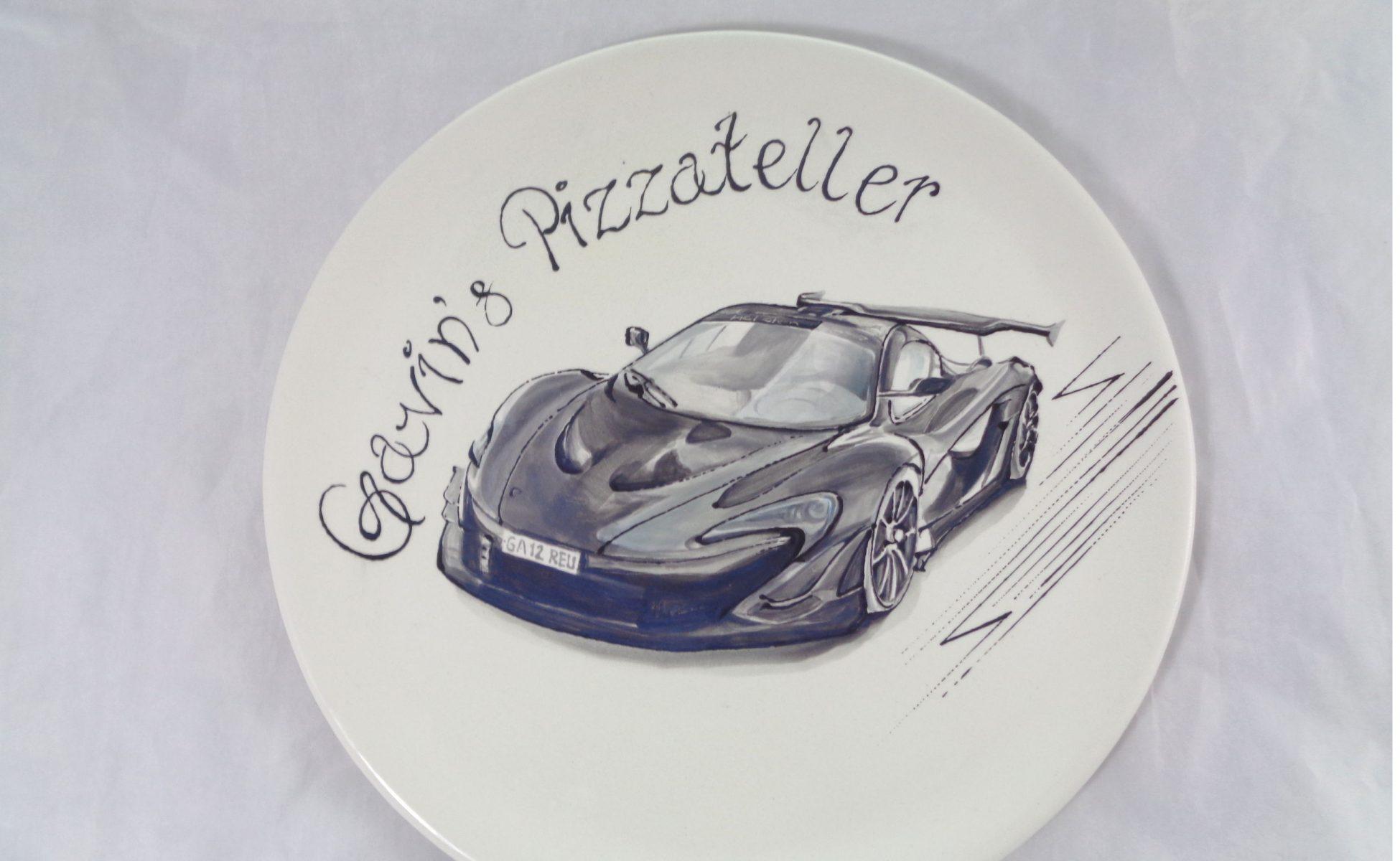 Bemalte Keramik Mc Laren P1 - Pizzateller