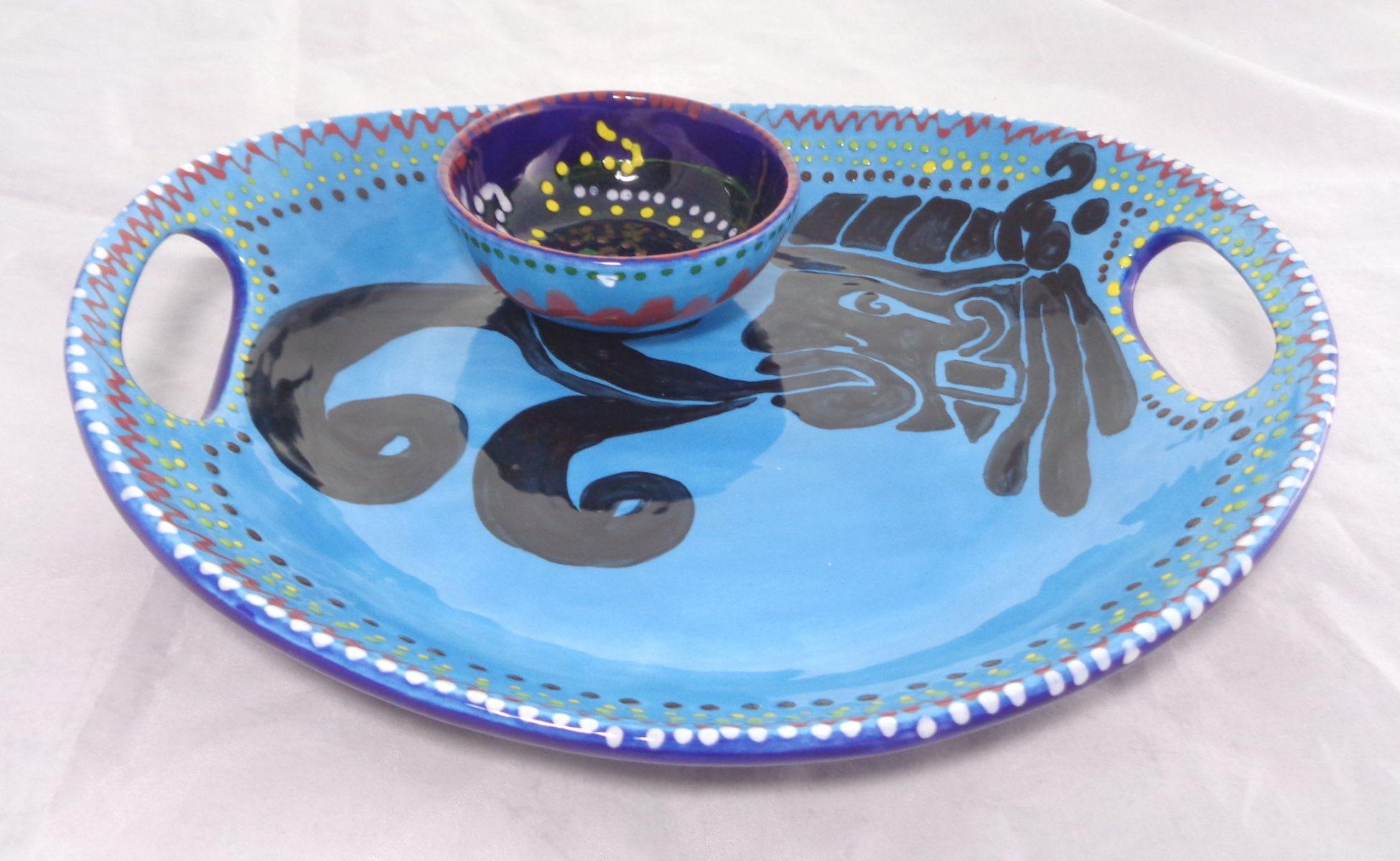 Bemalte Keramik Mexico-Style-Set