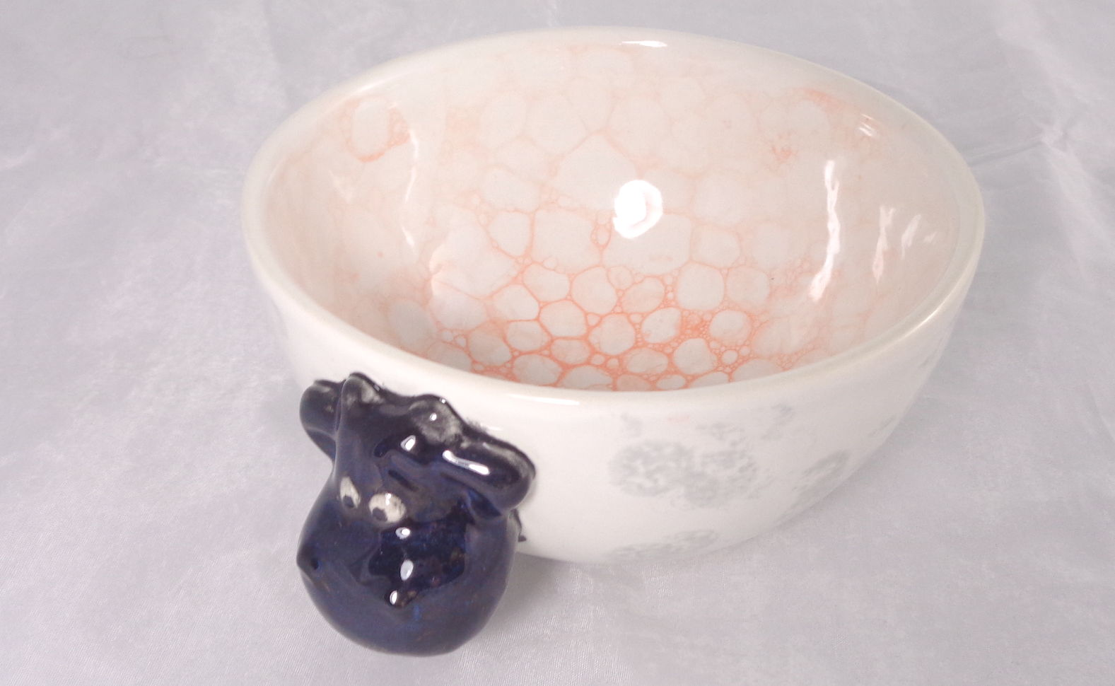 Bemalte Keramik Muh-Schale Schaf
