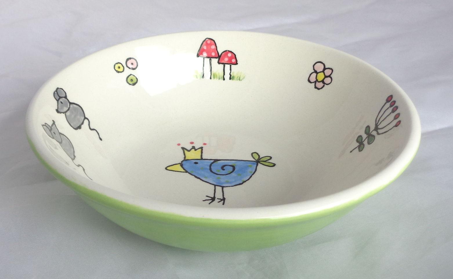 Bemalte Keramik Oslo-Schale nice-Clips