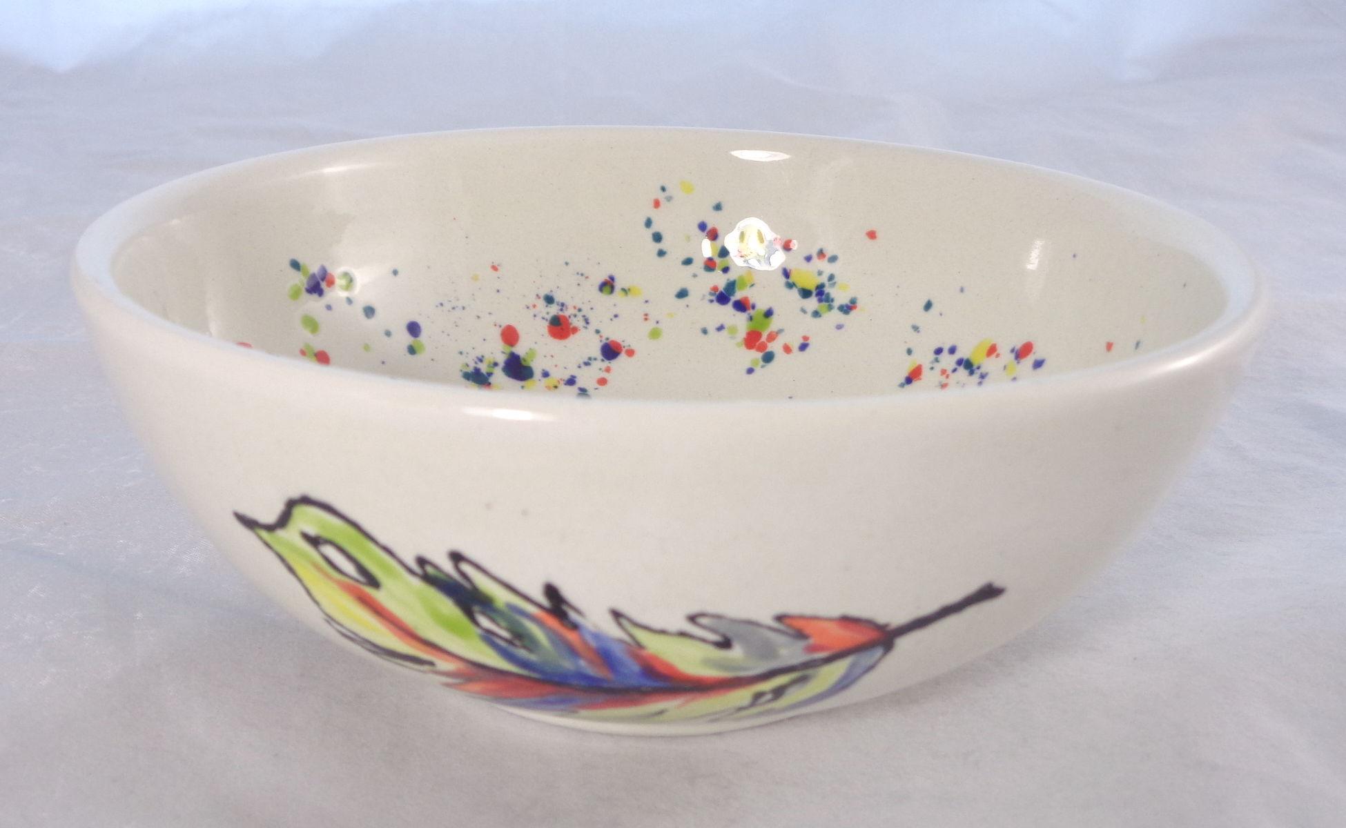 Bemalte Keramik Pferde-Set Müslischale