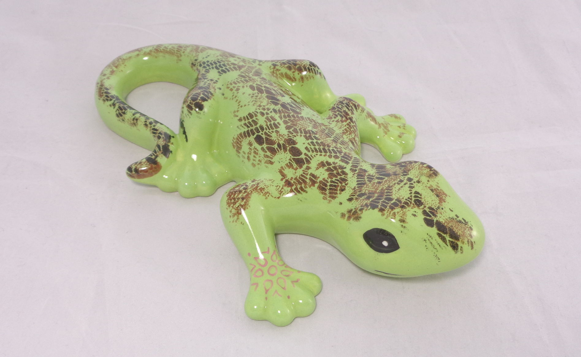 Bemalte Keramik Reptil-Print Gekko