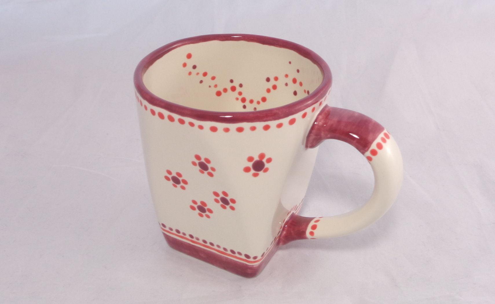 Bemalte Keramik Rundquadrat No2