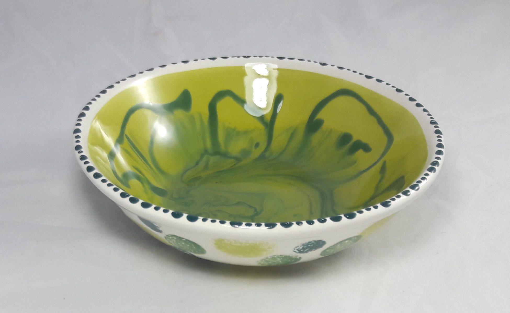 Bemalte Keramik Schale Mamorierung
