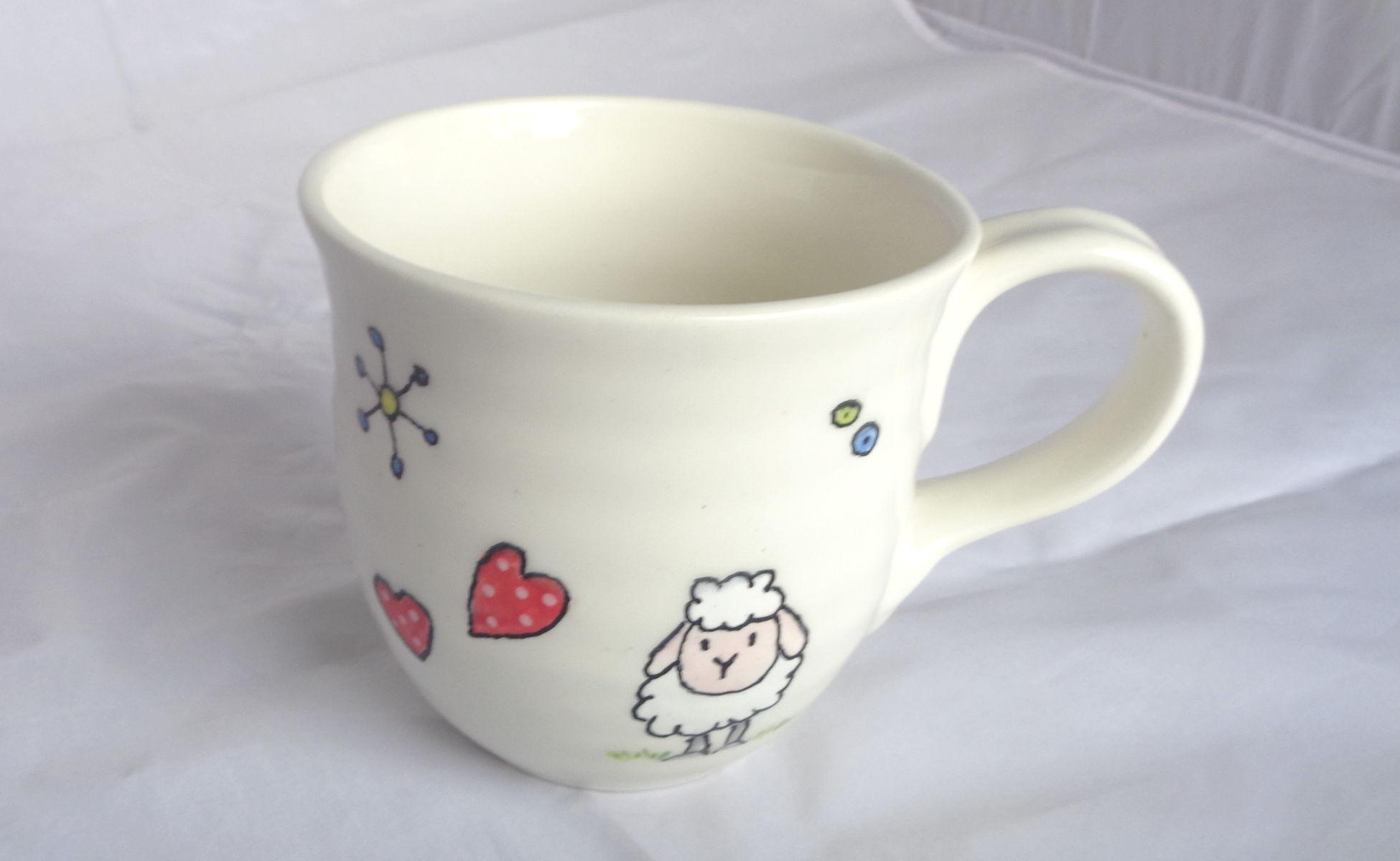 Bemalte Keramik Töpferbecher nice-Clips