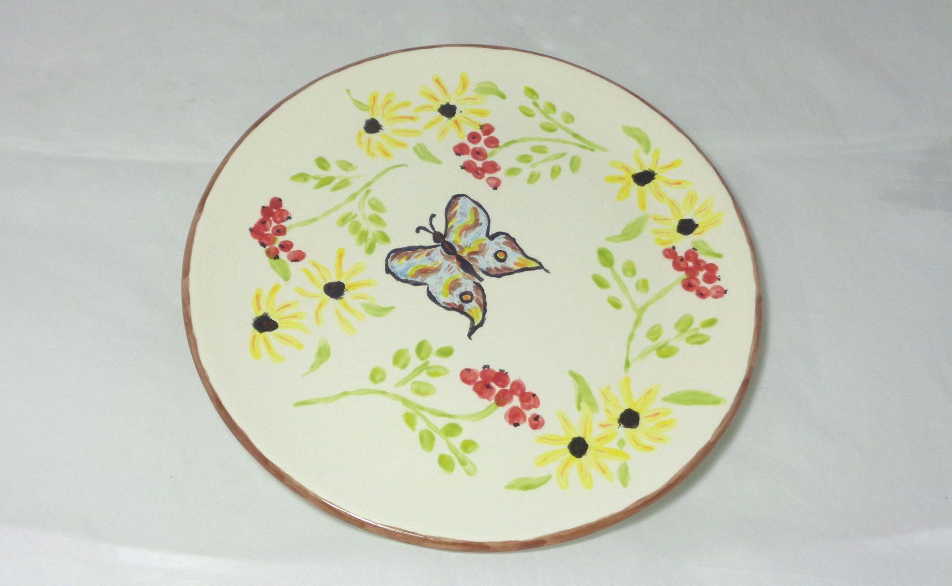 Bemalte Keramik Teller Bauermalerei