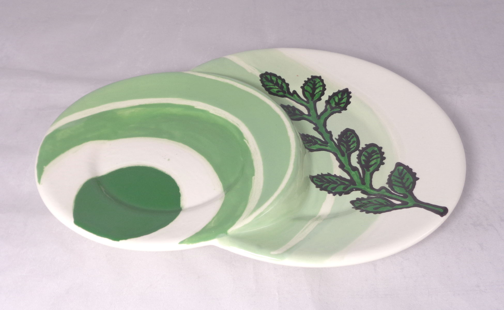 Bemalte Keramik Teller Brioche Pastell-Circle