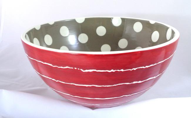 Bemalte Keramik große Schale