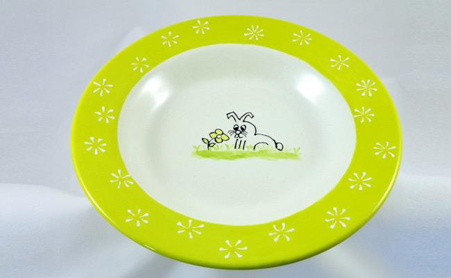 Bemalte Keramik Teller