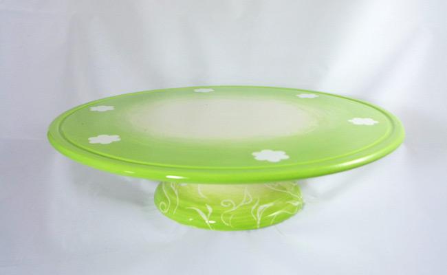 Bemalte Keramik Tortenboden