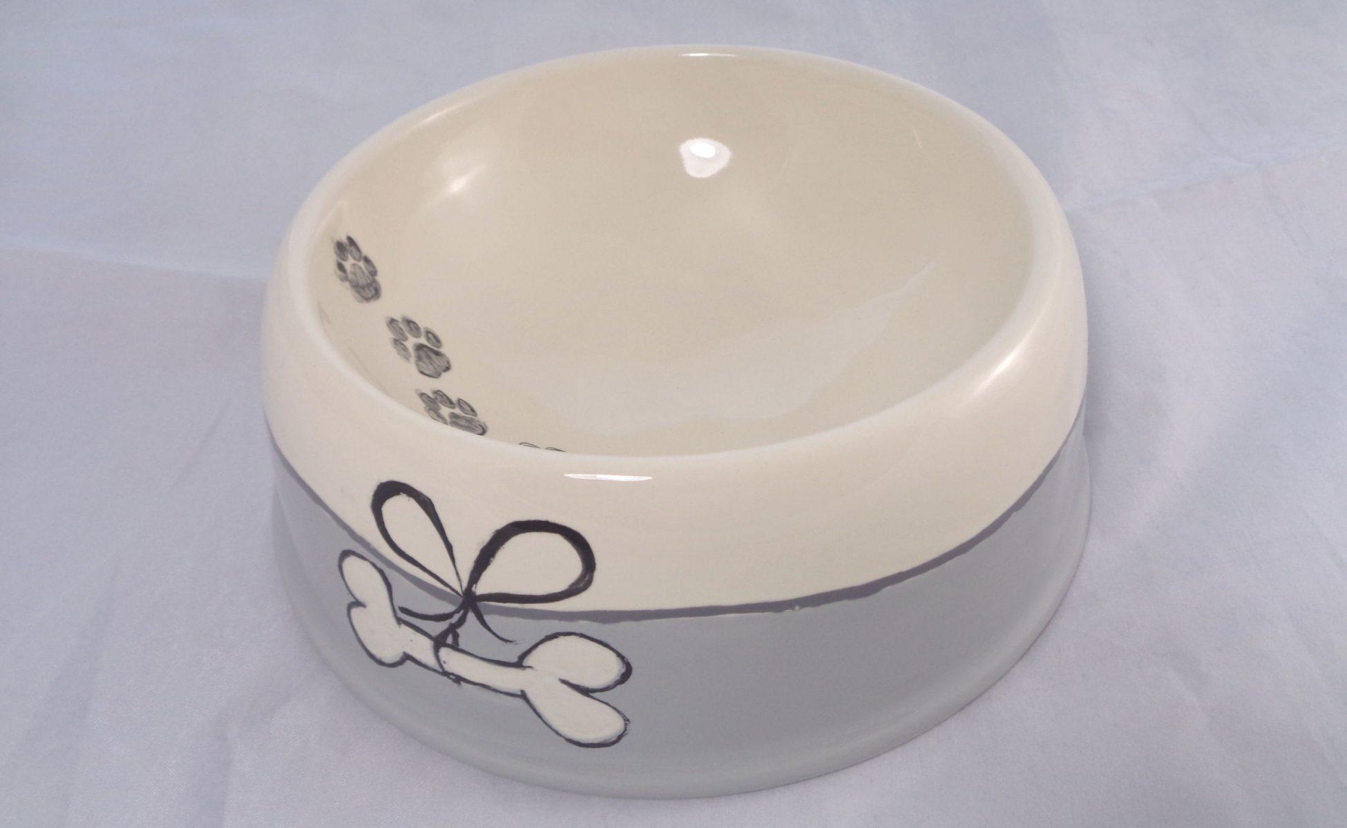 Bemalte Keramik großer Futternapf Sam